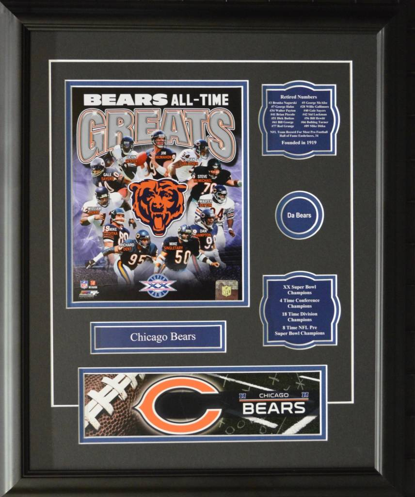 CHICAGO BEARS ALL-TIME GREATS 16X20 FRAME - AJW Sportscards