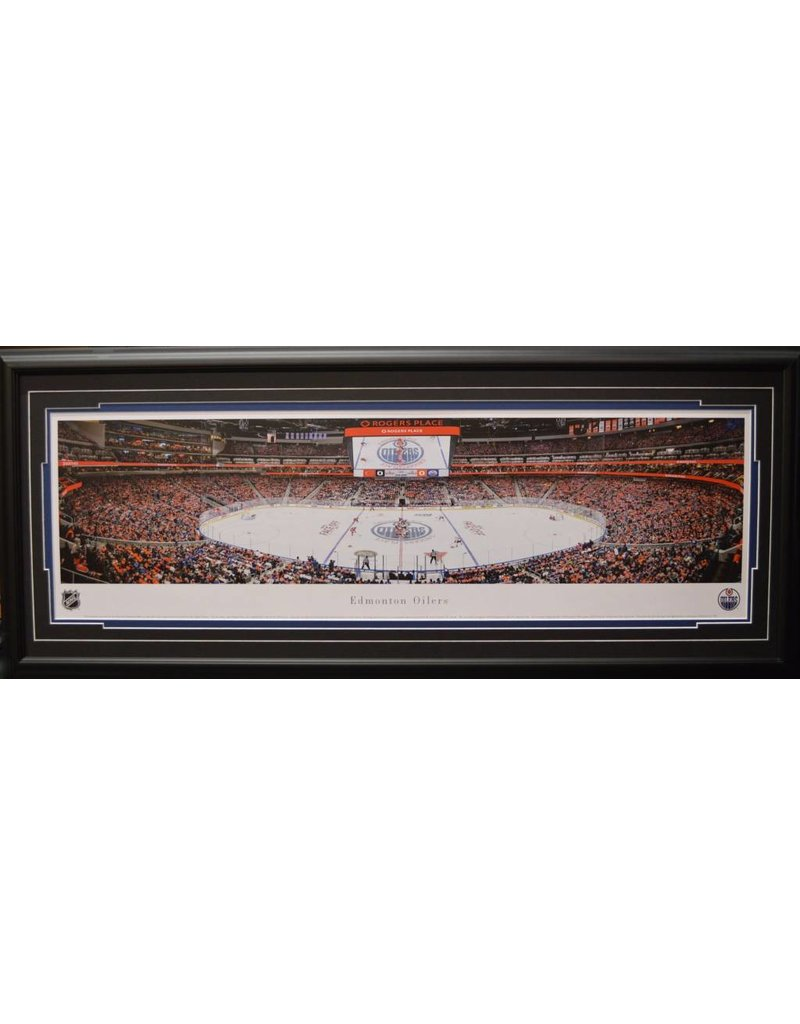 EDMONTON OILERS ROGERS PLACE PANORAMA 16X42 FRAME