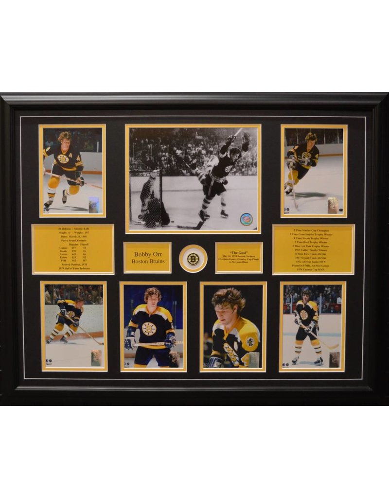 BOBBY ORR 22X28 FRAME - BOSTON BRUINS