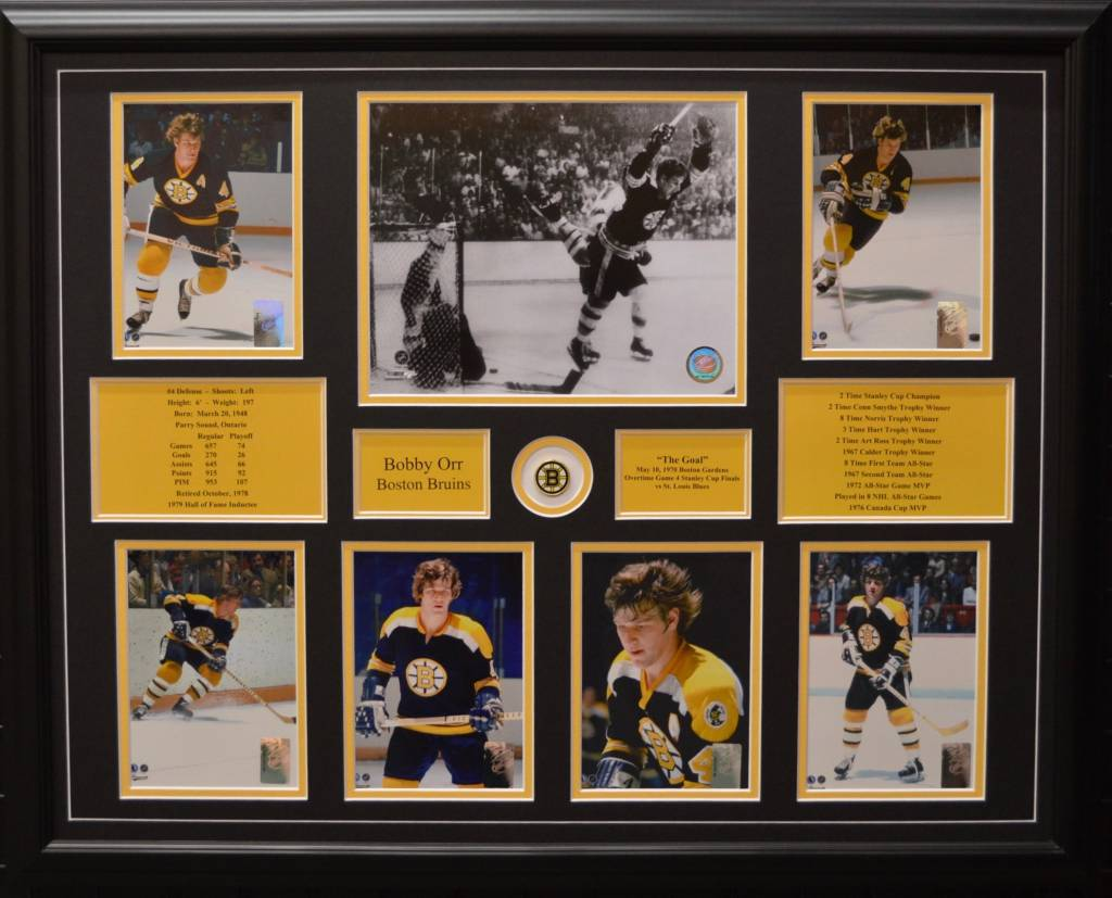 BOBBY ORR 22X28 FRAME - BOSTON BRUINS - AJW Sportscards