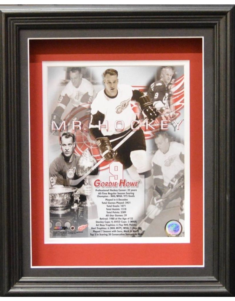 GORDIE HOWE 11X14 SHADOW BOX - DETROIT RED WINGS