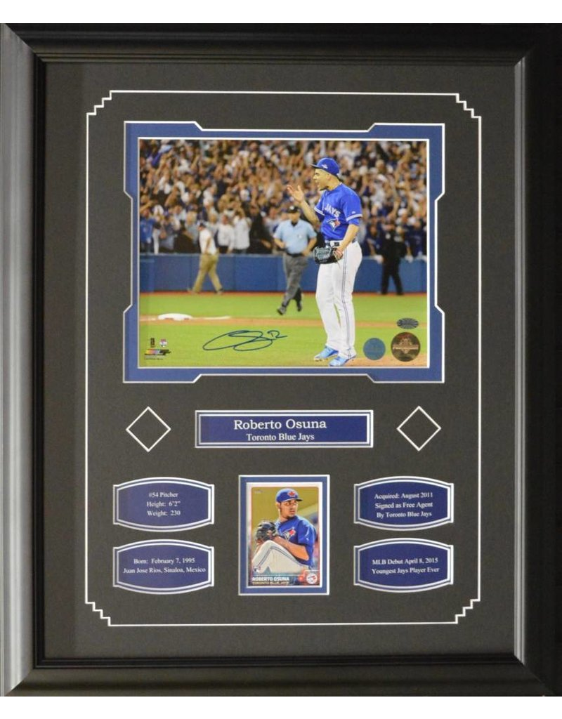 roberto osuna autograph 16x20 frame toronto blue jays