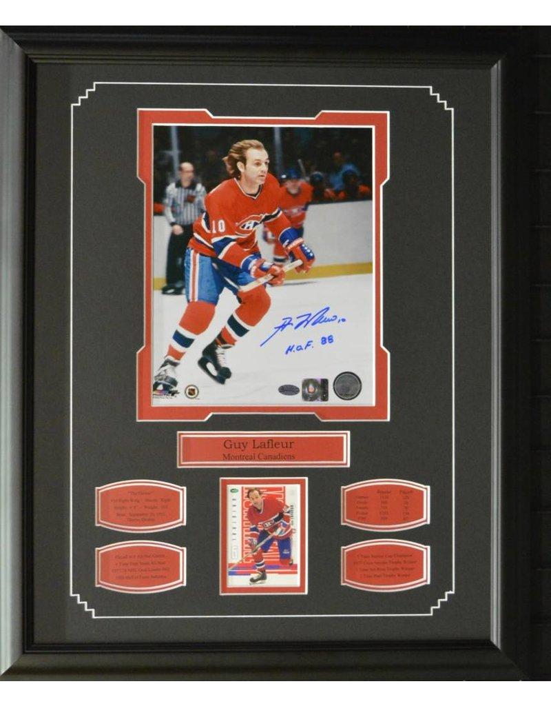 guy lafleur autograph 16x20 frame montreal canadiens
