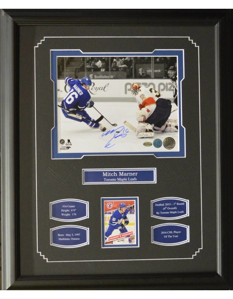mitch marner autograph 16x20 frame toronto maple leafs