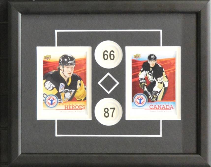 CROSBY & LEMIEUX 8X10 FRAME - PITTSBURGH PENGUINS