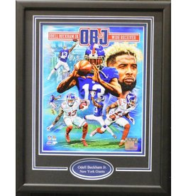 ODELL BECKHAM JR 11X14 FRAME - NEW YORK GIANTS