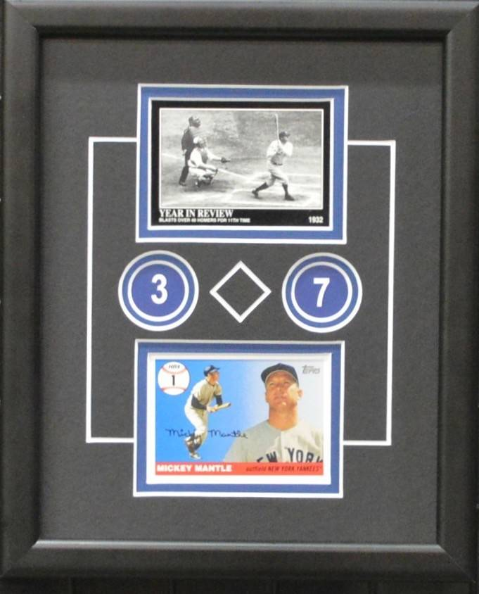 MANTLE & RUTH 8X10 FRAME - NEW YORK YANKEES