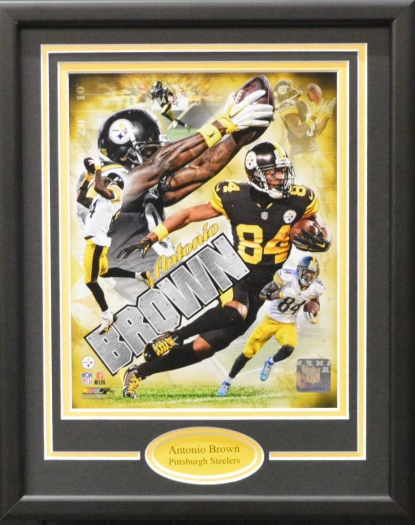 ANTONIO BROWN 11X14 FRAME - PITTSBURGH STEELERS