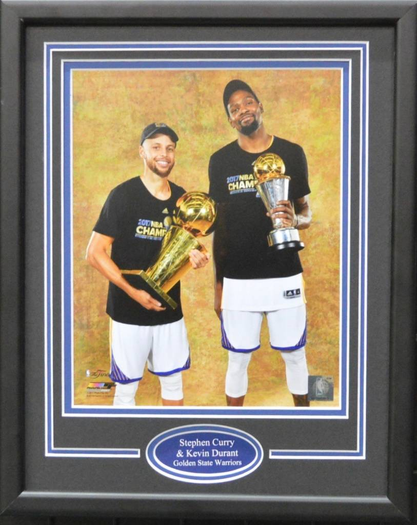 STEPHEN CURRY & KEVIN DURANT 11X14 FRAME - GOLDEN STATE WARRIORS