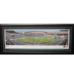 SASKATCHEWAN ROUGHRIDERS FIRST GAME AT NEW MOSAIC STADIUM PANORAMA 16X42 FRAME