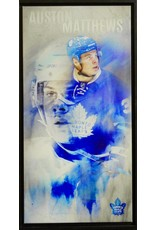 AUSTON MATTHEWS 14X28 FRAMED CANVAS - TORONTO MAPLE LEAFS