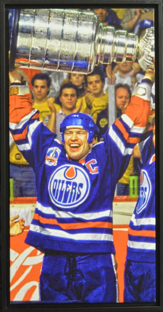 MARK MESSIER 14X28 FRAMED CANVAS - EDMONTON OILERS