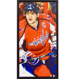 ALEX OVECHKIN 14X28 FRAMED CANVAS - WASHINGTON CAPITALS