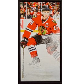 JONATHAN TOEWS 14X28 FRAMED CANVAS - CHICAGO BLACKHAWKS