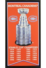 MONTREAL CANADIENS STANLEY CUP BANNER 14X28 FRAME CANVAS