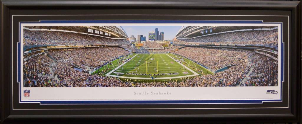 SEATTLE SEAHAWKS PANORAMA 16X42 FRAME