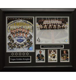 VEGAS GOLDEN KNIGHTS 2018 WESTERN CONFERENCE CHAMPIONS 16X20 FRAME