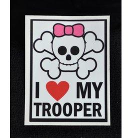 I Love My Trooper Decal