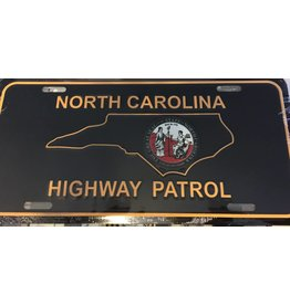 NC Highway Patrol License Plate Gold
