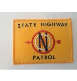 Vintage State Highway Patrol Patch Gold