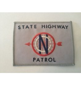 Vintage State Highway Patrol Patch Silver