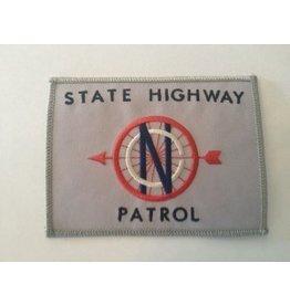 Vintage State Highway Patrol Patch Silver