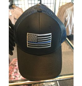 Blue on Blue Thin Blue Line Mesh Hat