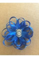 Hair Bow Blue
