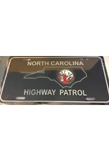 NC Highway Patrol License Plate Silver