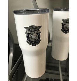 Stainless Steel White Powder Coated  Tumbler 20oz
