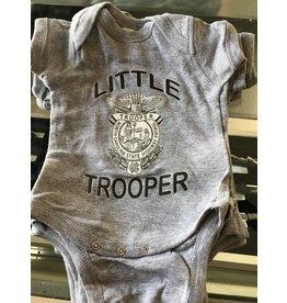 Little Trooper Onesie Grey- Newborn