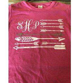SHP Pink Arrow Monogram Women's Tee