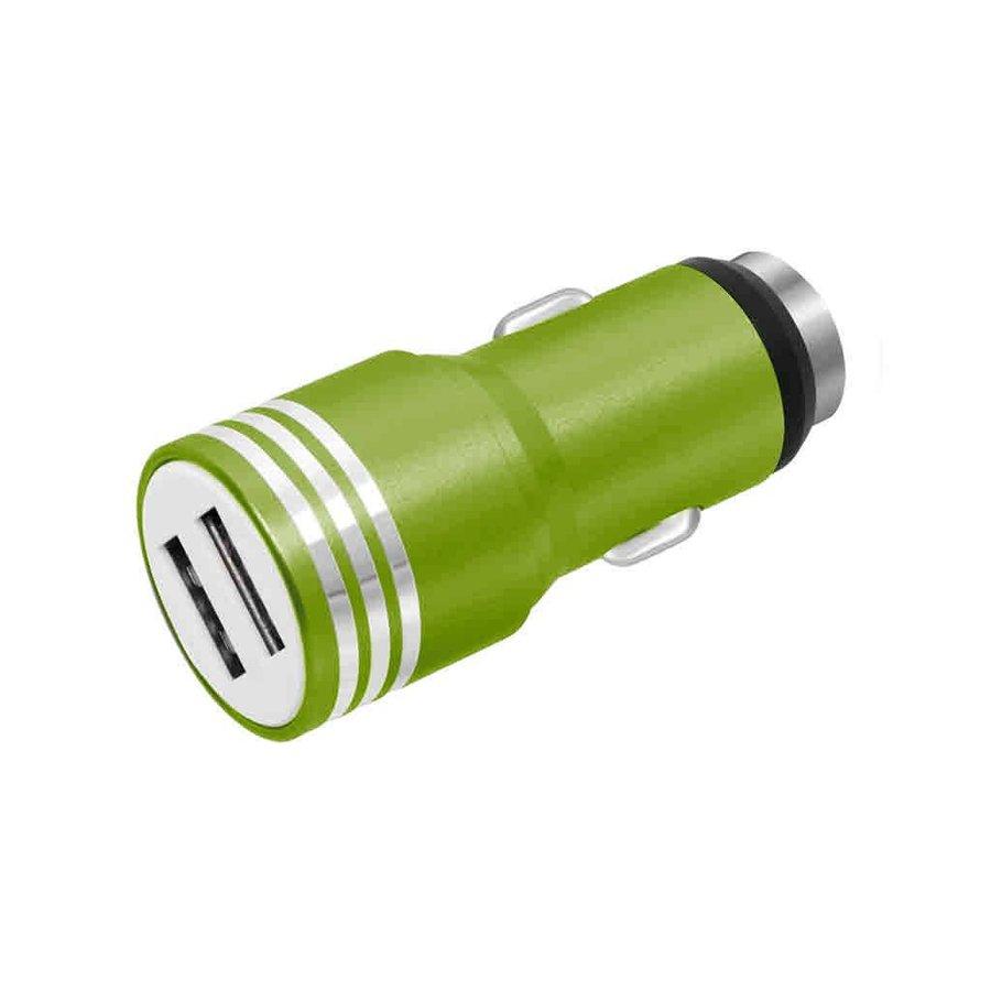 Bullet Dual-USB Intelligent Car Charger 2.1A