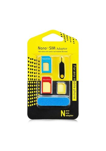 Nano-Sim Adapater 5-in-1 for All Mobile Devices
