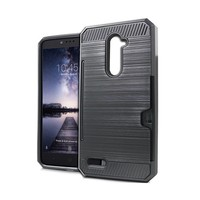 Armor Brushed Case With Card Slot For ZTE ZMAX Pro Z981