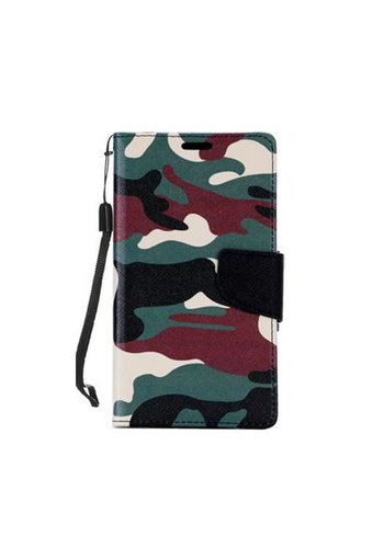 Design Leather Flip Wallet Credit Card For ZTE ZMAX PRO - Army