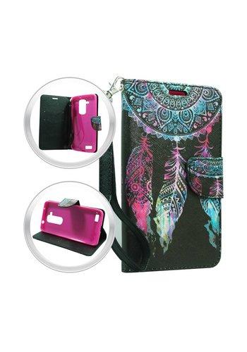 Design Leather Flip Wallet Credit Card For ZTE ZMAX PRO - Dream Catcher