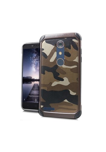 Hard Case with Design For ZTE ZMax Pro - Army Brown