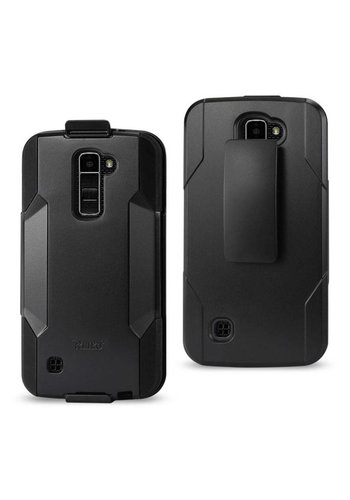 Reiko Hybrid Heavy Duty Holster Clip Case for LG K10