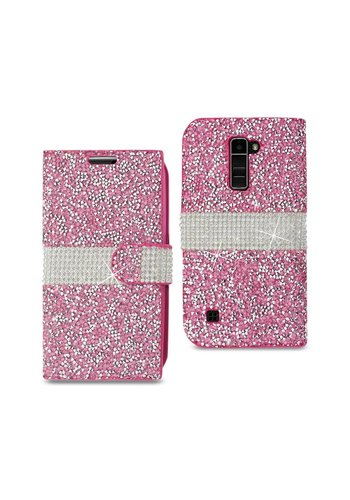 Wallet Case With Diamonds For LG K10