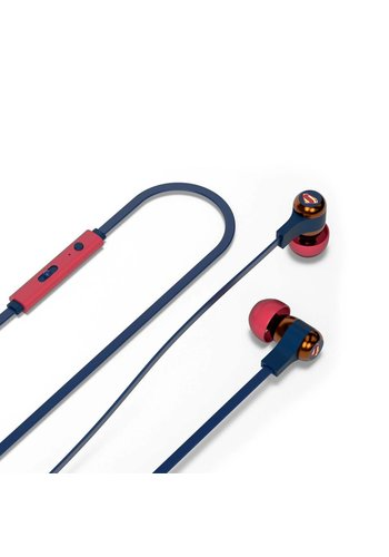 Tribe In-Ear Earphones with Remote & Mic - Superman