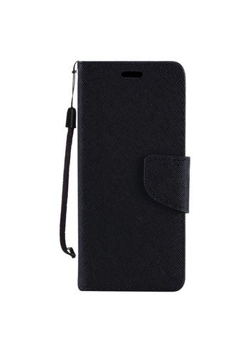 Hybrid PU Leather Flip Cover Case Wallet with Credit Card Slots for Alcatel Fierce 4