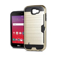 Armor Brushed Case With Card Slot For LG K3 LS450