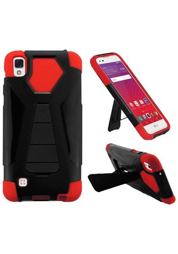 Hybrid T Kickstand Case For LG Tribute HD LS676