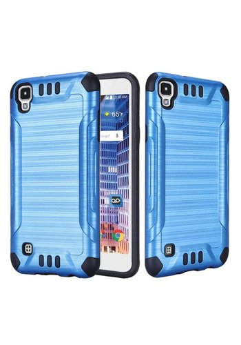 Slim Armor Metallic Design Case For LG Tribute HD LS676