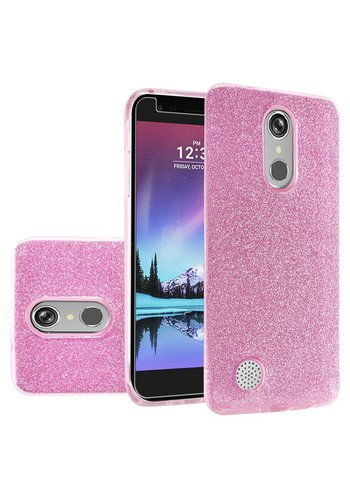 Hybrid Clear PC TPU Case with Glitter Paper For LG V5 / K20