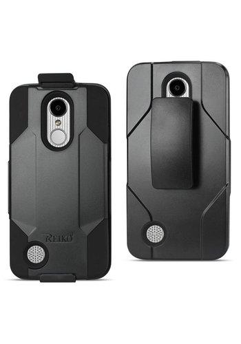 Reiko Hybrid Heavy Duty Holster Clip Case for LG Aristo LV3