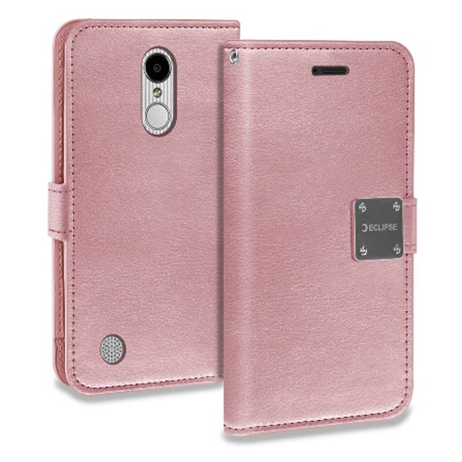ECLIPSE Hybrid PU Leather Flip Cover Case Wallet with Credit Card Slots for LG Aristo LV3