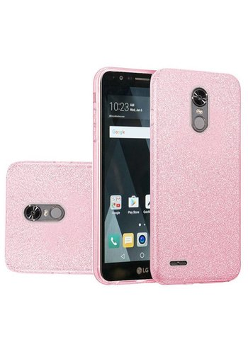 Hybrid Clear PC TPU Case with Glitter Paper For LG Stylo 3 (LS777) / Stylo 3 Plus
