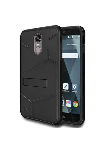 HLX Hybrid PC TPU Case with Kickstand For LG Stylo 3 LS777